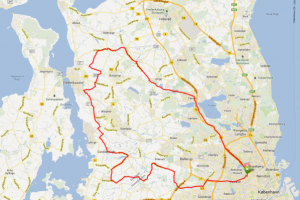 Cykel ruter med CC Grøndal - Frederikssund 95 km