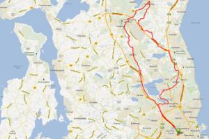 Cykel ruter med CC Grøndal - Den Royale tur 90 Km
